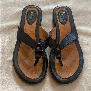 BOC Black Leather Sandals